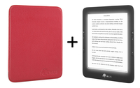 "Icarus Illumina 6"" Touch screen 8GB Wi-Fi Nero, Rosso lettore e-book"