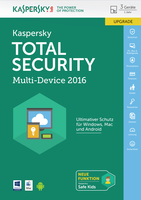 Kaspersky Lab Total Security Multi-Device 2016 3utente(i) 1anno/i Tedesca
