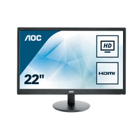 MONITOR LED 21,5 E2270SWHN VGA/HDMI AOC