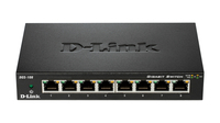 D-Link DGS-108 2 Pack No gestito L2 Gigabit Ethernet (10/100/1000) Nero