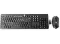HP Wireless Business Slim Keyboard RF Wireless QWERTY Inglese UK Nero tastiera