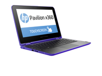 "HP Pavilion x360 11-k016nw 1.6GHz N3700 11.6"" 1366 x 768Pixel Touch screen Porpora Ibrido (2 in 1)"