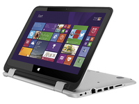 "HP Pavilion x360 11-k107nf 1.6GHz N3050 11.6"" 1366 x 768Pixel Touch screen Argento Ibrido (2 in 1)"
