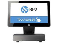 "HP RP2 2030 Tutto in uno 2.41GHz J2900 14"" 1366 x 768Pixel Touch screen Nero terminale POS"