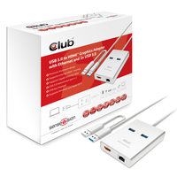 CLUB3D USB 3.0 to HDMIT Graphics + Ethernet + 2 x USB 3.0
