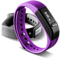 Cellularline Easy Fit - Universale Il fitness tracker intuitivo Viola Nero