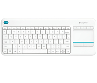 Logitech K400 Plus RF Wireless QWERTY Turco Bianco tastiera