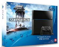Sony PlayStation 4 + Star Wars: Battlefront 1000GB Wi-Fi Nero