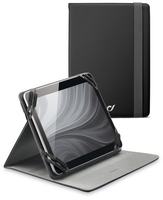 "Cellularline Stand Case - Tablet Fino a 7"" Custodia universale per tablet, elegante e pratica Nero"