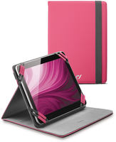 "Cellularline Stand Case - Tablet Fino a 7"" Custodia universale per tablet, elegante e pratica Rosa"