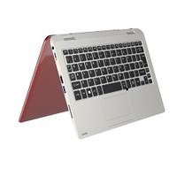 "Toshiba Satellite Radius 11 CL10W-C-107 1.6GHz N3050 11.6"" 1366 x 768Pixel Touch screen Rosso, Bianco Ibrido (2 in 1)"