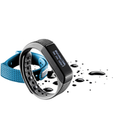 Cellularline Easy Fit Touch - Universale Fitness tracker con display touch screen Azzurro Nero