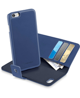 Cellularline Combo - iPhone 6S/6 Custodia a libro che si trasforma in una pratica cover Blu
