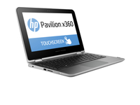 "HP Pavilion x360 11-k143tu 1.6GHz N3700 11.6"" 1366 x 768Pixel Touch screen Nero, Argento Ibrido (2 in 1)"