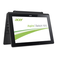 "Acer Aspire Switch 10 E SW3-013-166V 1.33GHz Z3735F 10.1"" 1280 x 800Pixel Touch screen Nero Ibrido (2 in 1)"