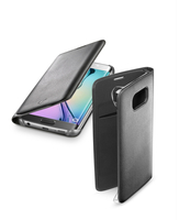 Cellularline Flip-Book - Galaxy S6 Edge Custodia a libro ultra-slim che esalta il design Nero
