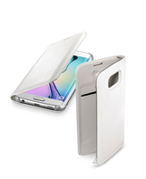 Cellularline Flip-Book - Galaxy S6 Edge Custodia a libro ultra-slim che esalta il design Bianco