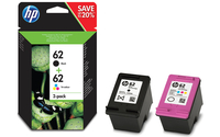 HP 62 2-pack Black/Tri-color Original Ink Cartridges 200pagine 165pagine Nero, Ciano, Giallo cartuccia d