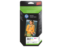 HP Photo Value Pack 364 Series 50 sheets 10x15 cm Ciano, Giallo cartuccia d