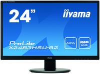 "iiyama ProLite X2483HSU-B2 24"" Full HD A-MVA Opaco Nero monitor piatto per PC LED display"