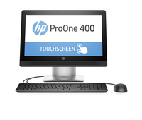 "HP ProOne 400 G2 3.2GHz i3-6100T 20"" 1600 x 900Pixel Touch screen Argento PC All-in-one"