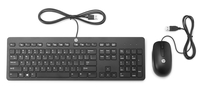HP Slim USB Keyboard & Mouse USB QWERTY Inglese Nero tastiera