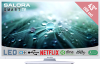 "Salora 43LED9112CSW 43"" Full HD Smart TV Bianco LED TV"
