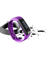 Cellularline Easy Fit Touch - Universale Fitness tracker con display touch screen Viola Nero