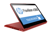 "HP Pavilion x360 13-s080no 2.1GHz i3-5010U 13.3"" 1366 x 768Pixel Touch screen Rosso, Nero Ibrido (2 in 1)"