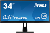 "iiyama ProLite XUB3490WQSU-B1 34"" Wide Quad HD AH-IPS Opaco Nero monitor piatto per PC LED display"