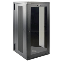 Tripp Lite 26U SmartRack Low-Profile Wall-Mount Rack Enclosure Cabinet with Clear Acrylic Door, Switch-Depth, Hinged Back