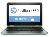 "HP Pavilion x360 11-k102nt 1.6GHz N3700 11.6"" 1366 x 768Pixel Touch screen Verde Ibrido (2 in 1)"