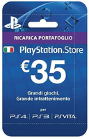 Sony Playstation Live Cards Hang 35 Euro Blu smart card