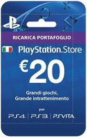 Sony Playstation Live Cards Hang 20 Euro Videogioco Cartolina