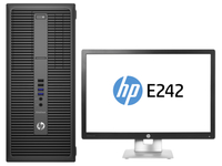 HP EliteDesk 800 G2 MT + EliteDisplay E242 3.4GHz i7-6700 Microtorre Nero PC