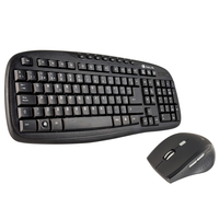 NGS Hero Kit RF Wireless QWERTY Nero tastiera