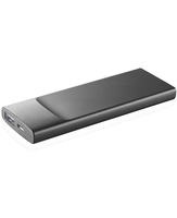 Cellularline Freepower Slim 3600 - Universale Caricabatterie portatile ultra sottile Nero