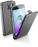 Cellularline Flap Essential - Galaxy A5 2016 Custodia con apertura flap e finitura effetto pelle Nero