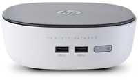 HP Pavilion 300-001la 1.4GHz 2957U PC di dimensione 1,2L Nero, Bianco Mini PC