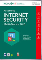 Kaspersky Lab Internet Security - Multi-Device 2016 Base license 10utente(i) 1anno/i Inglese