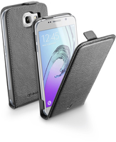 Cellularline Flap Essential - Galaxy A3 2016 Custodia con apertura flap e finitura effetto pelle Nero