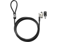 HP Keyed 10 mm cable lock Black 1.83 m