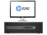 HP EliteDesk 800 G2 SFF + EliteDisplay E242 3.4GHz i7-6700 SFF Nero PC