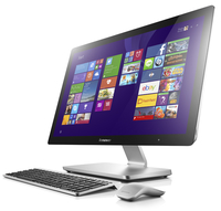 "Lenovo IdeaCentre A740 3.1GHz i7-5557U 27"" 1920 x 1080Pixel Touch screen Nero, Argento PC All-in-one"