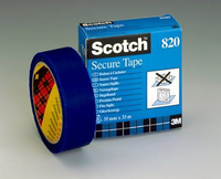 3M Scotch Secure Tape - 820 33m Blu cancelleria e nastro adesivo per ufficio