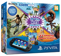 "Sony PlayStation Vita + 8GB + Mega Pack Hits 5"" Touch screen Wi-Fi Nero console da gioco portatile"