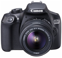 Canon EOS 1300D + 18-55mm IS II + 100EG Tas + 8GB SD Kit fotocamere SLR 18MP CMOS 5184 x 3456Pixel Nero