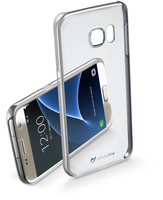 Cellularline Clear Crystal - Galaxy S7 Cover rigida con eleganti finiture cromate ai bordi Argento