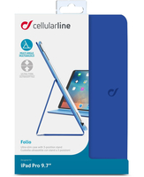 Cellularline Folio - iPad Pro 9.7 Custodia per iPad Pro 9.7 con stand multiangolo Blu