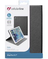 Cellularline Folio - iPad Pro 9.7 Custodia per iPad Pro 9.7 con stand multiangolo Nero